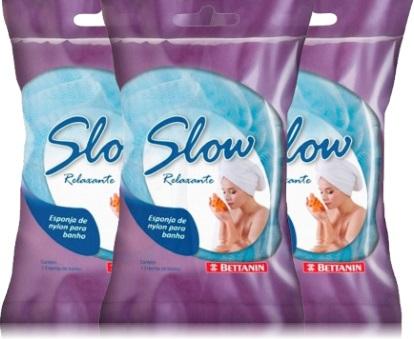esponjas de banho slow bettanin, espuma, esponja de nylon, massagem