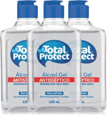 total protect, álcool gel, sanol, higienizador de mãos, sem perfume