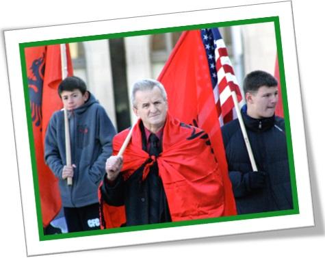 albanians, albaneses, bandeira da albânia, bandeira dos estados unidos
