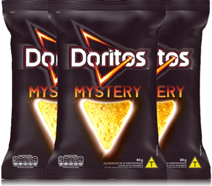 salgadinhos doritos mystery, snack, lanche, petisco, aperitivo
