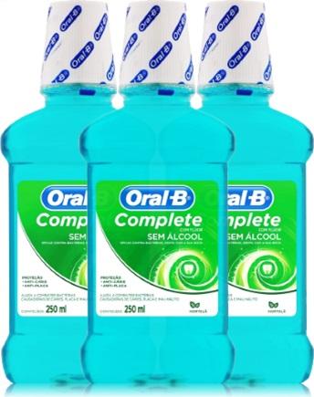antisséptico bucal oral b complete hortelã
