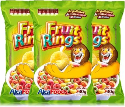 fruit rings alcafoods argolinhas de milho sabor frutas