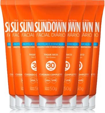 bloqueador solar sundown facial diário