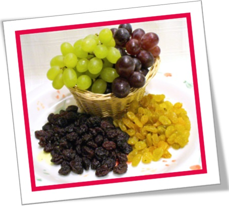 frutas desidratadas, uva passa preta, uva passa branca