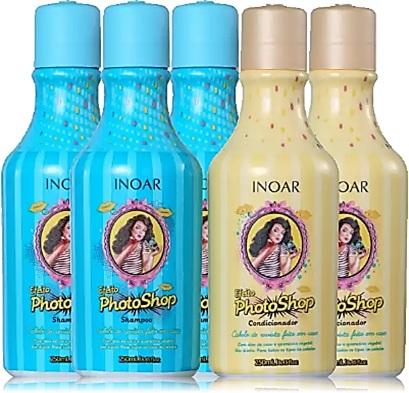 shampoo, condicionador, inoar, efeito photoshop
