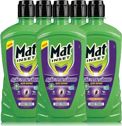 mat inset ação total inseticida contra mosquito, moscas, formigas, baratas