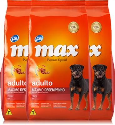 max total alimentos para cães adultos máximo desempenho, rottweiler