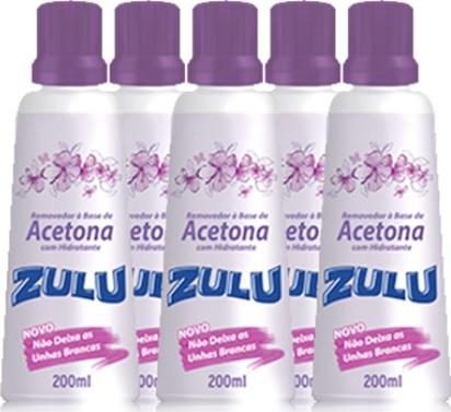acetona zulu removedor de esmalte de unhas