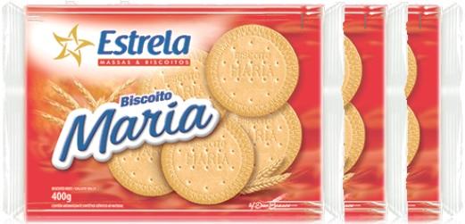 pacotes de biscoito maria estrela, biscoito doce