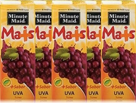 caixas de suco minute maid sabor uva