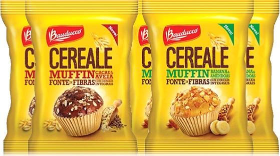 cereale bauducco muffin cacau aveia banana amêndoa