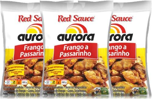 red sauce aurora frango a passarinho, galinha, batatas