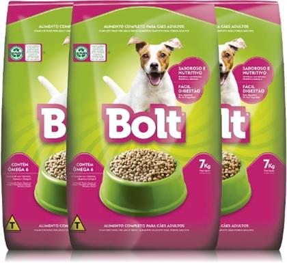 alimento para cães bolt, nutrire, ração para cachorro