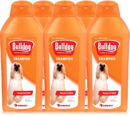 shampoo inseticida bulldog coveli, xampu para cachorro, buldogue