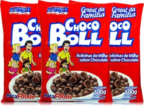 alca foods, cereal choco boll, bolinhas, cápsula, casulos