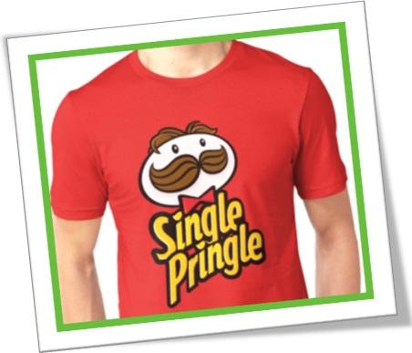 t-shirt single pringle, single, solteiro, camiseta, solteirinho da silva