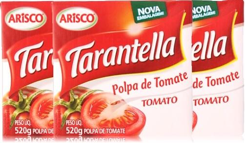 caixa de polpa de tomate tarantella tomato arisco