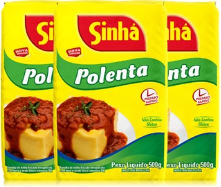 polenta com molho e manjericão, sinhá, refeição, almoço, comida italiana