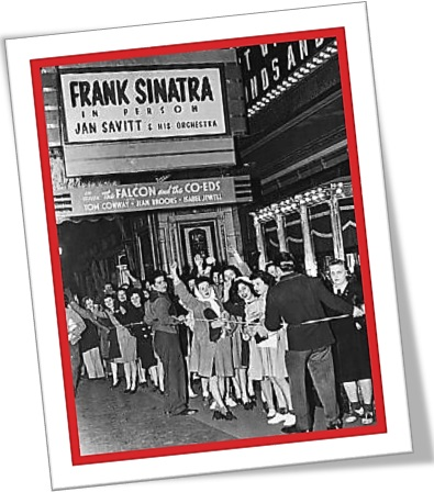 cantor frank sinatra, fans, theater, show, espetáculo