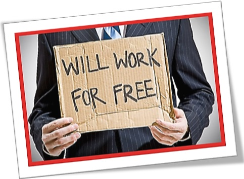 he will work for free, trabalho grátis